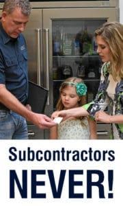 Sub-Zero appliance repair subcontractors here? NO WAY! Here's why….